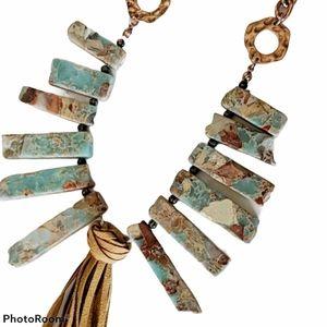 Shyanne natural stone & Copper necklace